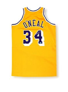 3c9f8400585 Steiner Sports Memorabilia Shaquille O Neal Signed Mitchell  amp  Ness  Yellow Lakers Jersey Star