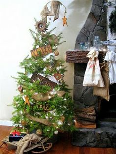 rustic christmas tree - Google Search