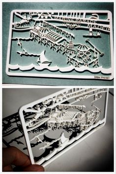 Laser cut acrylic map section from the Brighton map.  Benpaveyartwork.com