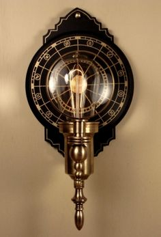 Parrish Carriage I.  Steampunk Wall Lantern