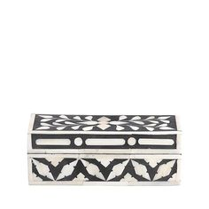 Bone and Horn Box - Patterned from Day Birger Et Mikkelsen Black And White Interior, Box Patterns, Mixed Media Artwork, Horns, Decorative Boxes, Ornaments, Beautiful, Boudoir, Home Decor