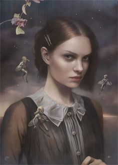 Titania by Tom Bagshaw. All his work is so beautiful!