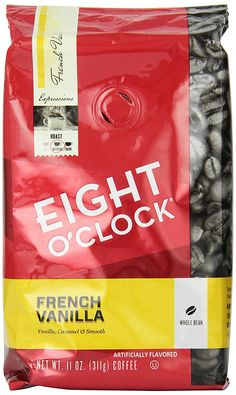 Eight O'Clock French Vanilla Whole Bean Coffee * Click on the image for additional details.