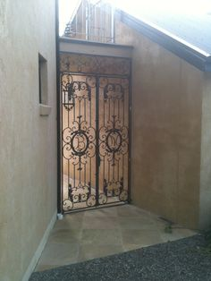 Spectacular wrought iron gate