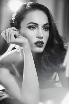 Megan Fox - best brows!  They are nice and thick, also long enough to frame over the entire eye. Yes!