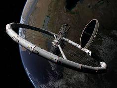 A Werner von Braun design for a wheel type space station from 1946. {copyright Nick Stevens}
