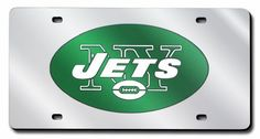NFL New York Jets Laser Cut Auto Tag Silver * You can find more details by visiting the image link.