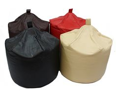 This versatile bean bag will compliment any home, with its high quality faux leather which gives the look and feel of leather but with the added advantage of being easy to clean, an excellent accessory to any home as an extra seat for kids & guests.   Choice of colours, black, chocolate, red, and cream.   Dimensions: D60*h78cm (6 cubic feet approx) Material: High Quality Faux Leather 85% pvc 15% pu Inner:BS5852 Standard polystyrene bead Product is fire retardant and meets BS5852.