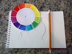 that artist woman: How to Make a Color Wheel for your Sketchbook  Day 1 or 2 lesson for Art 1 and AP