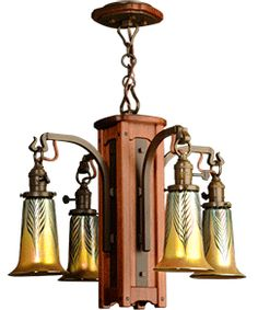 Craftsman Style Interior Lighting - Arts and Crafts, Bungalow and Mission Style Chandeliers