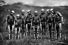 A tribe in Papua New Guinea dressed as skeletons seen on BBC's Human Planet.