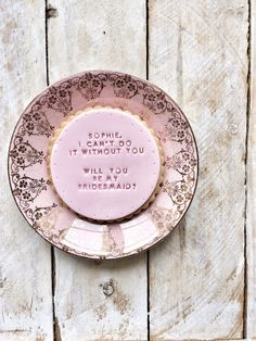Unique Personalised Gifts Website is coming soon Will You Be My Bridesmaid Gifts, Iced Biscuits, Personalized Bridesmaid Gifts, Bridesmaid Proposal, Hand Stamped, Vanilla, Forget, This Or That Questions, Bridal
