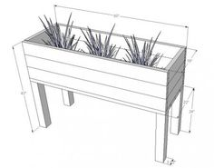 I want to make this! DIY Furniture Plan from Ana-White.com An elevated planter box for gardens.