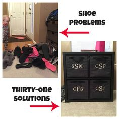Thirty One Bedroom Organization Thirty One Party, Thirty One Gifts, Thirty One Organization, Organizing, Storage Organization, Bedroom Organization, Storage Ideas, Shoe Bin, Thirty One Uses