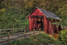 Campbell's Covered Bridge built in 1909 located outside Greenville South Carolina by Steve'53, via Flickr