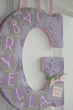 letter/name plaque