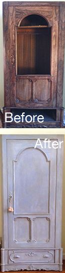 Rosewood Armoire painted with Annie Sloan Chalk Paint