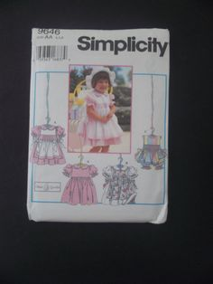 Simplicity 9646 AA 1/2, 1, 2 Dress pinafore apron smocking Easter Flower Girl #simplicity