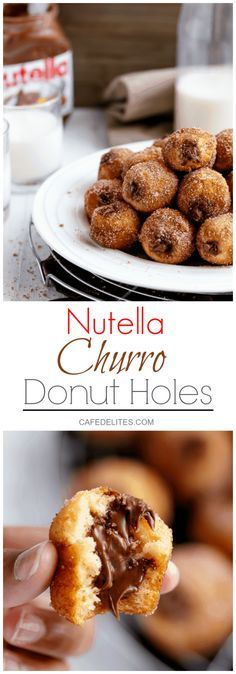Nutella Churro Donut Holes   https://cafedelites.com