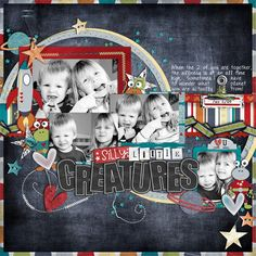 Cindy's Template Set #11  Outta This World by Dani Mogstad and Traci Reed Itty Bits Alpha, Words to Scrap By – Dani Mogstad Stitched Swirls – Traci Reed Black Alpha – Zoe Pearn Staples – Lauren Grier