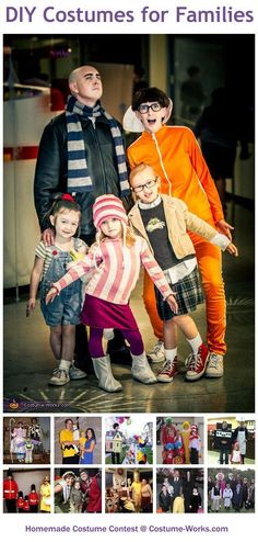Homemade Costumes for Families - this website has tons of homemade costume ideas!