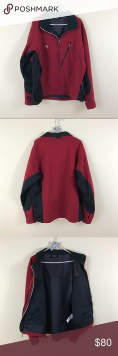 """Mountain Hardwear Zip Fleece Jacket Always open to offers. No trades! Approximate measurements when flat: pit to pit 26"""" pit to hem 16 1/4"""" (front) - 17""""(back) pit to cuff 23 3/4"""" Mountain Hardwear Jackets & Coats"""