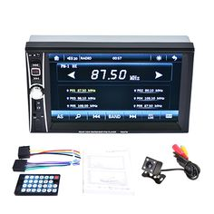 6.6'' HD 2 DIN Car Radio MP5 Player Touch Screen Bluetooth Phone Link Smart Phone Stereo Radio Player+Camera