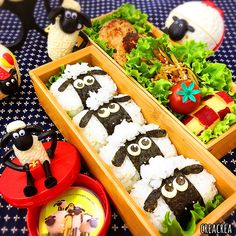 ひつじのショーン♡ Bento Box, Lunch Box, Healthy Diet Recipes, Baby Food Recipes, Cute Food, Good Food, Cute Bento, Egg Recipes For Breakfast, Food Crafts