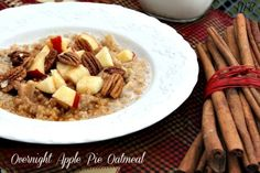 Mommy's Kitchen - Country Cooking & Family Friendly Recipes: Overnight Apple Pie Oatmeal & A Handy Apple Chart