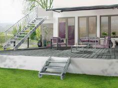 Homeplaza - Mit flexibler Außentreppe sinnvolle und schicke Verbindungen schaffen - Außenrum statt mittendurch