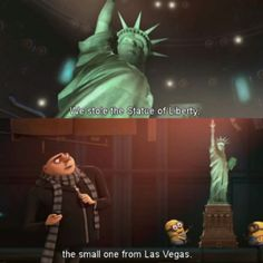 Despicable Me stole the small Statue of Liberty from Las Vegas