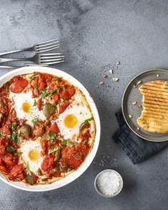 Shakshuka on helppo pataruoka Chorizo, Feta, Ethnic Recipes, Red Peppers