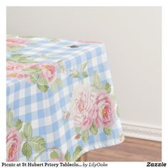 Shop Picnic at St Hubert Priory Tablecloth created by LilyOake. Tea Party Wedding, Wedding Table, Picnic Table Covers, St Hubert, Pink Garden, The Perfect Touch, Table Linens, Color Pop, Vibrant Colors