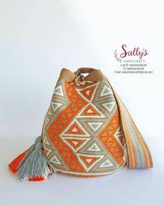 Tapestry Bag, Tapestry Crochet, Mochila Crochet, Crochet Dolls Free Patterns, Bags 2017, Art Bag, Crochet Purses, Knitting Accessories, Knitted Bags