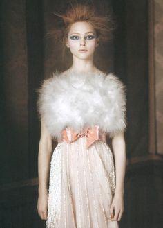 Sasha Pivovarova in Chanel shot by Paolo Roversi for Vogue Italia