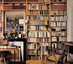 i do like bookcases. the book will never die.