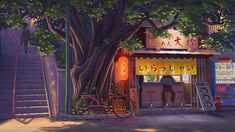 """Do paintings count? """"ramen shop"""" digital 2018 by u/UgeneBright Anime Backgrounds Wallpapers, Anime Scenery Wallpaper, Episode Backgrounds, Animes Wallpapers, Disney Wallpaper, Of Wallpaper, Vintage Desktop Wallpapers, Night Aesthetic, Aesthetic Art"""