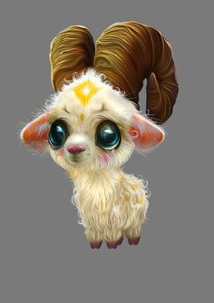 Fantasy Creature Dolls by Nefantano – Goat #cute #animal #illustration