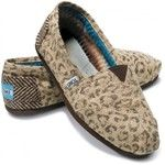 TOMS Shoes Snow Leopard Vegan Classic Women 5.5