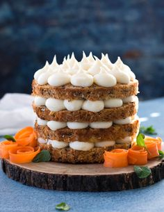 If you love carrot cake, then this is your new favorite recipe! This delicious carrot cake can be made as a cake, cupcake, or even as a bar! Top with cream cheese frosting and you will have a scrumptious dessert! Mini Cakes, Cupcake Cakes, Cupcakes, Mini Carrot Cake, Carrot Cakes, Sweet Recipes, Cake Recipes, Sweet Crepes Recipe, Carrot Cake Decoration