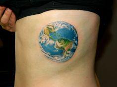 Earth Tattoo Design