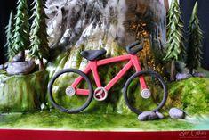 Mountain Bike Cake Tutorial 28 Ideas For 2019 Diy Cake Topper, Cake Toppers, Mountain Bike Cake, Dirt Bike Cakes, Luggage Cake, Fondant, Cake Story, Pipe Decor, Sport Cakes