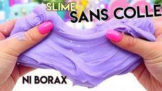 ideas for diy slime sans colle liquide Slime Sans Colle Ni Borax, Slime Sans Borax, Le Slime, Diy Crafts To Sell, Diy Crafts For Kids, Diy Baby Girl Bibs, Fete Audrey, Diy Soap Holder, Diy Fashion Show