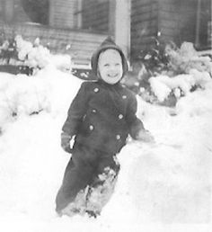 Terry in snow, 1944 (?)
