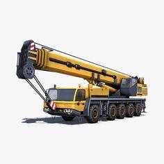 Mobile Crane Industrial 3D C4d - 3D Model