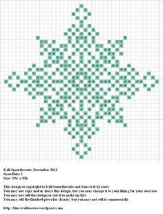 snowflake hama perler pattern