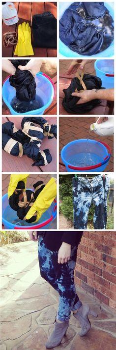 Dyeing for Fun: DIY Fashion Tie Die DIY Tie Dye Jeans