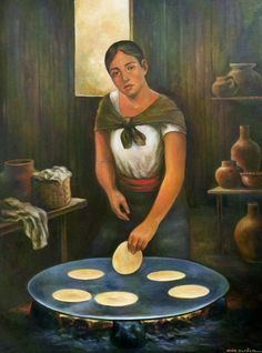 """Tortillera"" óleo/tela"