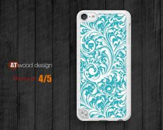 IPod case blue floral  ipod touch 5 case  ipod 4 by Atwoodting, $7.99