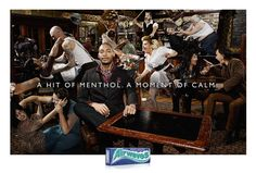 Airwaves Gum: Bar     A hit of menthol. A moment of calm.  Advertising Agency: DDB, South Africa